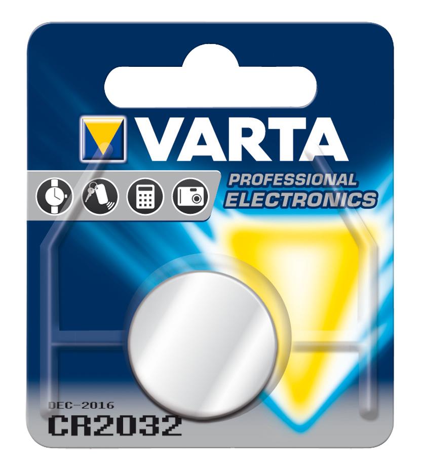 produkt-foto van 'cr2032 - Knoopcel batterij VARTA, 3v, 230mAh'