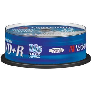 produkt-foto van 'Verbatim DVD+R schijf (16x - Spindle 25x - Photo Printable)'