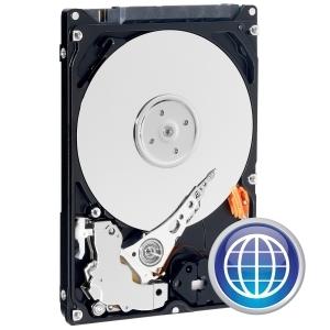 """produkt-foto van 'W.D. 500gb harddisk (sata-150 - 2,5"""" Scorpio - 8m - 5,400t)'"""