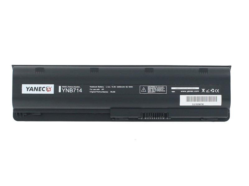 produkt-foto van 'Laptop Accu - 10.8-11.1v, 5,200mah, 57Wh, zwart, Yanec, HP DV3/DV4'
