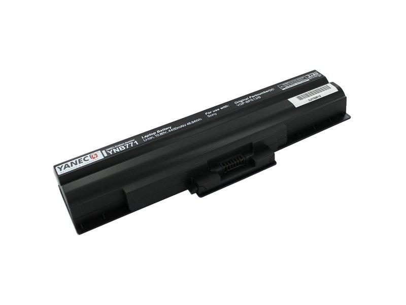 produkt-foto van 'Laptop Accu - 10.8-11.1v, 4,400mah, 47wh, yanec, zwart, o.a. sony viao'