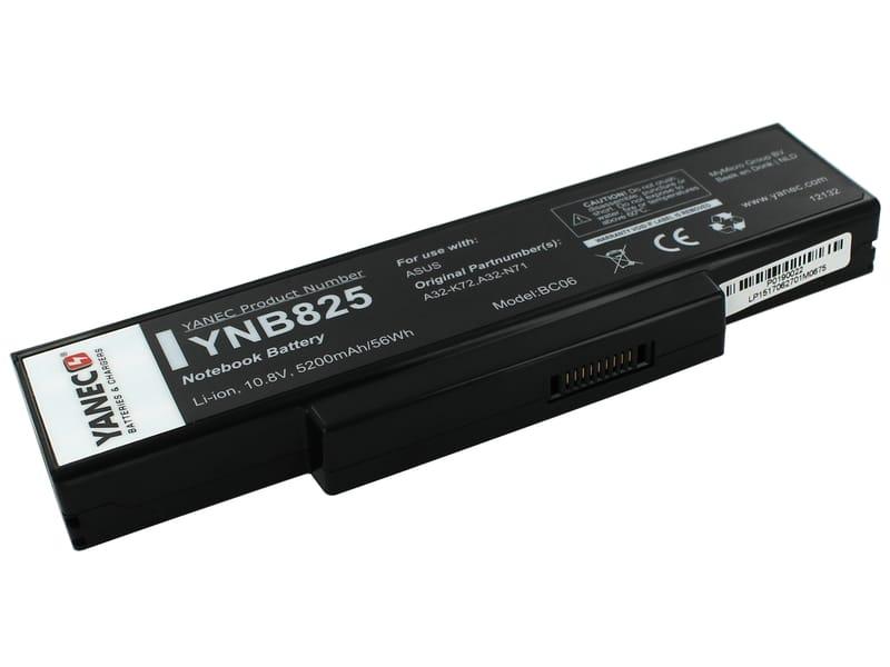 produkt-foto van 'Laptop Accu - 10,8-11,1v, 5.200mah, 57Wh, Yanec, zwart, oa. asus'