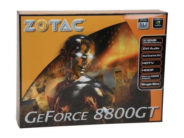 produkt-foto van 'Zotac gf8800gt video-kaart (pci-e - 512mb - hdmi/tv)'